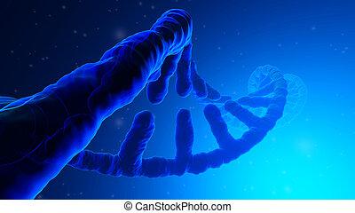 3D rendered Illustration of a DNA Helix