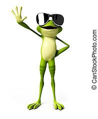 3d rendered illustration of a funny frog