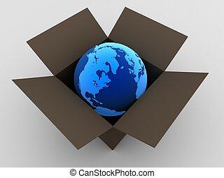 globe in a box