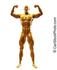a golden man