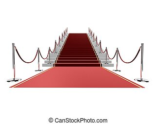 red carpet - 3d rendered illustration of a red carpet and ...