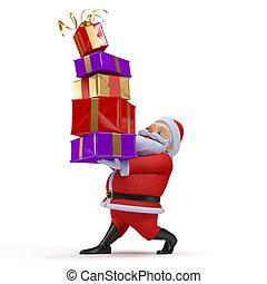 3d rendered illustration of a santa claus