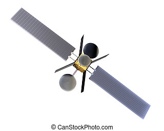 satellite - 3d rendered illustration of a satellite in orbit...