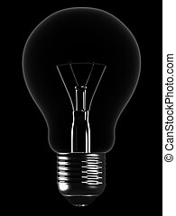 light bulb - 3d rendered illustration of a simole light bulb