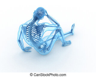sitting male with visible bones