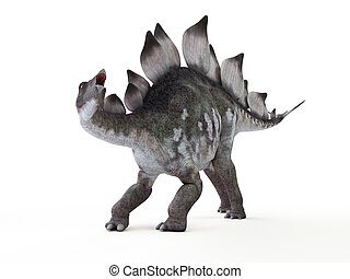 a stegosaurus - 3d rendered illustration of a stegosaurus