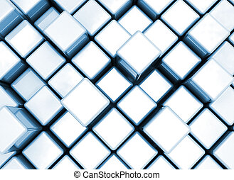 3D rendered illustration of abstract blue background
