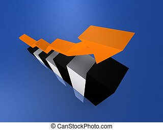 statistic - 3d rendered illustration of an arrow on a...
