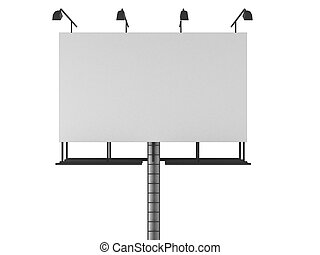 3d rendered illustration of an isolated blank sign