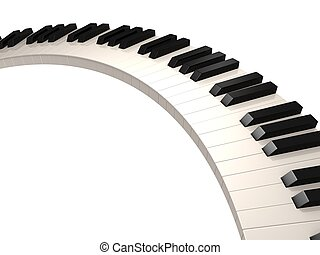 3d rendered illustration of black and white piano keys