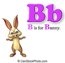 Bunny wild animal with alphabte