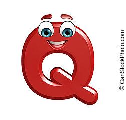 cartoon character of Q - 3d rendered illustration of cartoon...