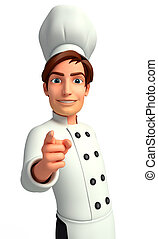 Chef on the blank background