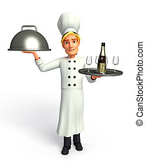 Chef with frying pan