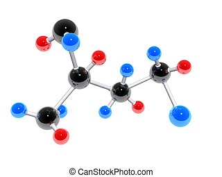 molecules - 3d rendered illustration of colorful molecules