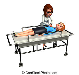 Doctor analyze patient - 3d rendered illustration of Doctor...