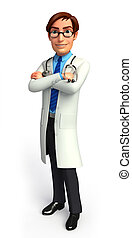 Doctor on the blank background