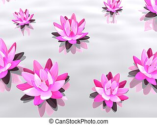 lotus flower - 3d rendered illustration of elegant lotus ...