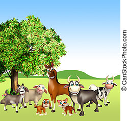 farm animal - 3d rendered illustration of farm animal