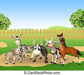 3d rendered illustration of farm animal