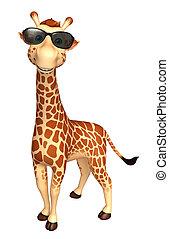 Giraffe cartoon character with sunglass