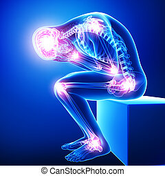 male brain pain with all joint pain