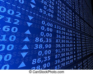 stock numbers - 3d rendered illustration of many stock...