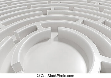 3D rendered illustration of maze.