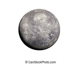 mercury - 3d rendered illustration of mercury