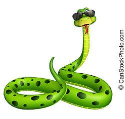 Snake cartoon character with sunglass
