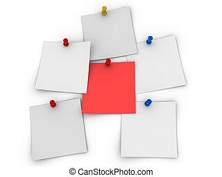 notepads - 3d rendered illustration of some hanging notepads