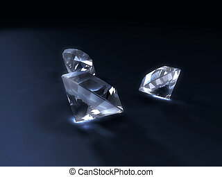 diamonds - 3d rendered illustration of some isolated...