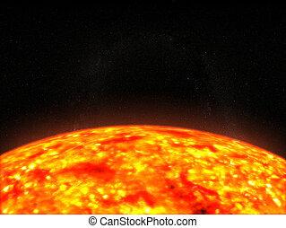 sun - 3d rendered illustration of the sun