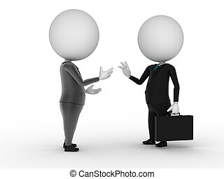 business guys - 3d rendered illustration of two business...