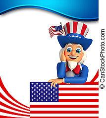 3d rendered illustration of Uncle Sam