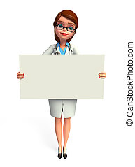 Young Doctor with sign