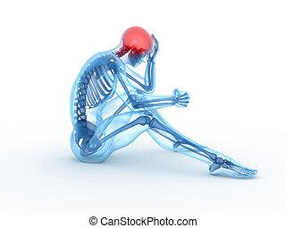 3d rendered medical illustration of a sitting male - ...