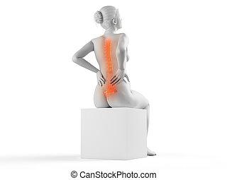 a pregnant woman having backache