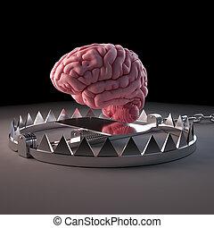 a trapped brain