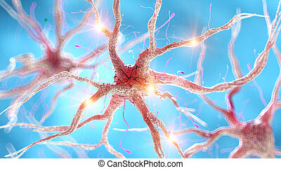 an active human nerve cell