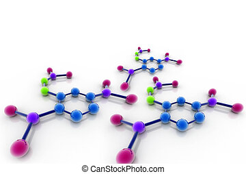 3D rendered Molecule