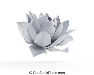 an abstract white lotus flower