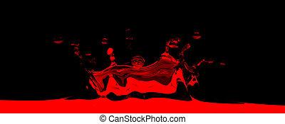 3D rendered red splash