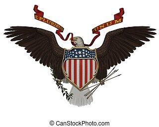 US symbol - 3D rendered US symbol on white background...