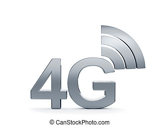 4G cellular high speed data connection concept logo