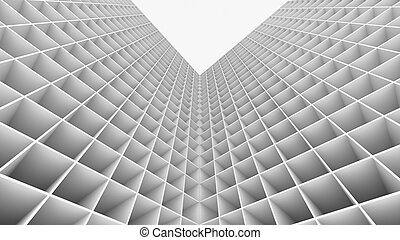 3D Rendering abstract building isolated on white background