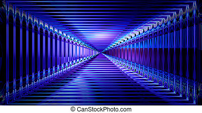 3d rendering. Abstract future technology concept, cyber hi-tech background. Science fiction futuristic design