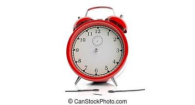 3d rendering alarm clock on white background