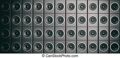3d rendering audio speaker boxes background