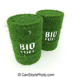 3D rendering barrels of biofuels
